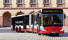 Самый длинный автобус выпущен компанией Mercedes-Benz