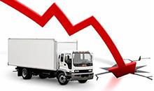 Кризис в цифрах: продажи тяжелых грузовиков упали на четверть