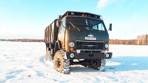 Как завести грузовик в мороз?