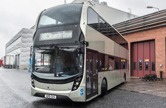 Новый 2-этажный автобус с газовым двигателем скоро запустят в серийное производство