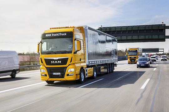 Беспилотные грузовики MAN Truck2Truck