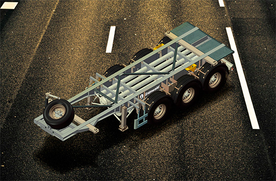 6-метровые танк-контейнеры можно будет перевозить при помощи новых полуприцепов Grunwald