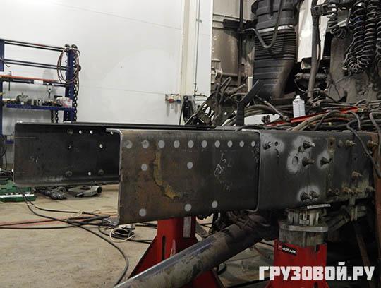Ремонт рамы грузовика с заменой несущих элементов. Как это было?