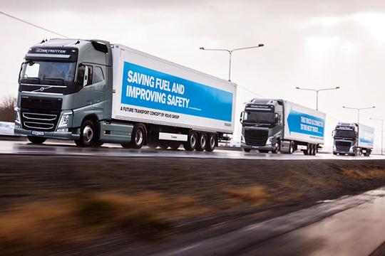 В заезде беспилотных грузовиков приняли участие машины 6 крупнейших европейских производителей