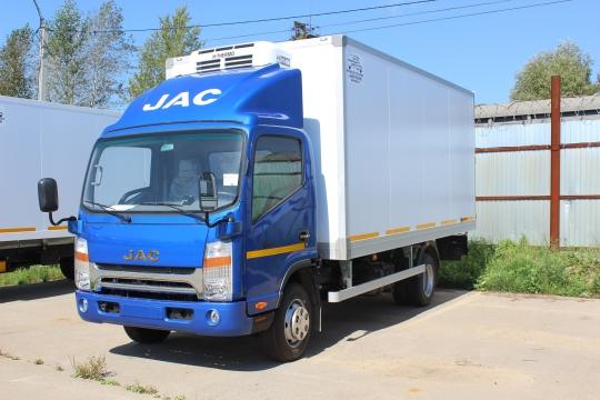 Изотермический фургон на шасси JAC N-75 с рефрижераторной установкой H-Termo HT-450 H
