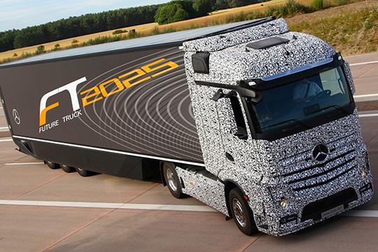 Беспилотный грузовик Mercedes-Benz Future Truck 2025
