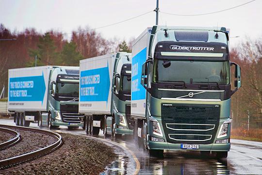 Беспилотные грузовики Volvo Globetrotter